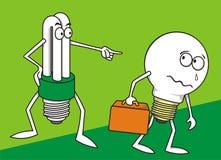 2 Lamps stock illustration