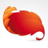2 liść jesienny spadać ramowy kształt Zdjęcia Royalty Free