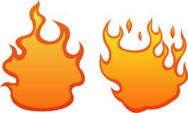 2 llamas del fuego Imagen de archivo libre de regalías