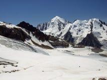 2 lodowaty na szczyt góry Obraz Stock