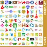 2 logotecken stock illustrationer