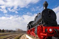 2 lokomotyw kontrpara Obraz Royalty Free