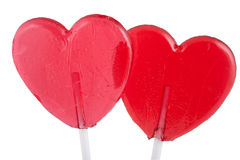 2 lollipops на белизне. Стоковая Фотография