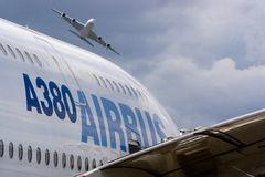 2 luchtbus A380 Stock Afbeelding