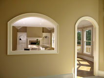 2 luksusu melin modelu otwarcie w domu Obrazy Royalty Free