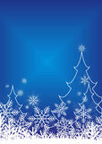2 lyckliga jul stock illustrationer