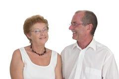 2 lyckliga paråldring Royaltyfri Foto
