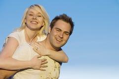 2 lyckliga par tillsammans Arkivfoton