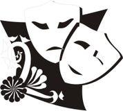 2 máscaras Imagens de Stock