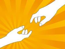 2 mãos Ilustração Royalty Free