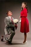 2 małżeństwo propozycja Fotografia Royalty Free