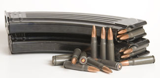 2 magazines and bullets. Stock Images