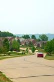 2 maisons suburbaines de brique d'histoire Image libre de droits