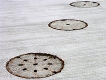 2 manholes tre Royaltyfria Bilder