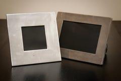 2 marcos vacíos Fotos de archivo libres de regalías