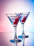 2 martinis Стоковое Изображение RF