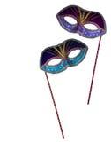 2 maskers Royalty-vrije Stock Afbeelding