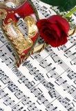 2 maskowa muzyki Zdjęcia Royalty Free
