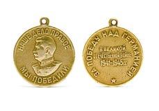 2 medaljsidor Arkivfoto