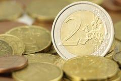 2 menniczy euro Fotografia Stock