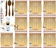 2 menu kucbarska restauracja Fotografia Royalty Free