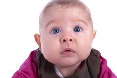 2 mesi del bambino con gli occhi azzurri Immagine Stock
