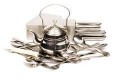 2 metallutensils Royaltyfri Bild