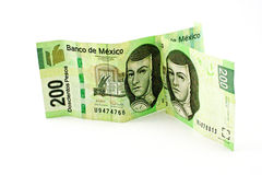 2 mexican bills. Isolated on white background Stock Photo