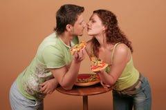 2 miłość pizza Zdjęcie Royalty Free