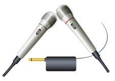 2 microphones sans fil Photographie stock libre de droits