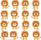 2 śmiesznego lwa Obrazy Royalty Free