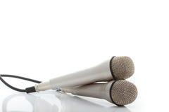 2 mikrofonu dwa Obraz Stock