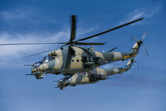 2 Mil mi-24 helicopter Royalty Free Stock Image