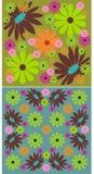 2 milieux floraux illustration de vecteur