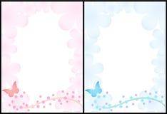2 milieux romantiques illustration de vecteur