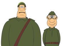 2 militära män Stock Illustrationer