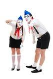 2 mimes смотря что-то Стоковое Фото
