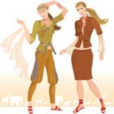 2 mody modelów lato Zdjęcie Royalty Free