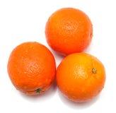 2 mogna hela för apelsiner Arkivfoto