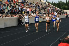 2? Momentos clássicos da maratona de Atenas Imagem de Stock Royalty Free