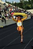 2? Momentos clássicos da maratona de Atenas Foto de Stock Royalty Free