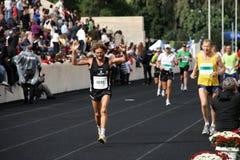 2? Momentos clássicos da maratona de Atenas Fotos de Stock Royalty Free