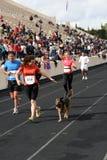 2? Momentos clássicos da maratona de Atenas Fotografia de Stock Royalty Free