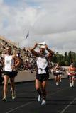 2? Momentos clássicos da maratona de Atenas Imagem de Stock
