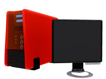 2 monitora lcd serwer obj. Zdjęcie Royalty Free