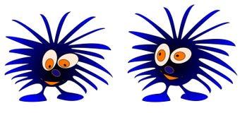 2 monstruos azules Foto de archivo libre de regalías