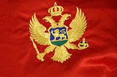 2 montenegrian bandery Obrazy Royalty Free