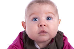 2 months old baby with blue eyes Stock Image
