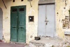 2 moroccan dörrar Royaltyfria Bilder