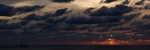 2 morzy śródziemnomorskich zmierzch zdjęcie stock